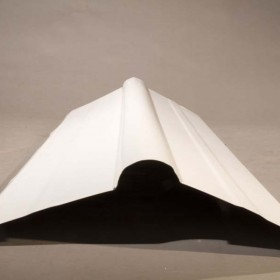 Caballete cumbrera de acero galvanizado color blanco para techo en Monterrey