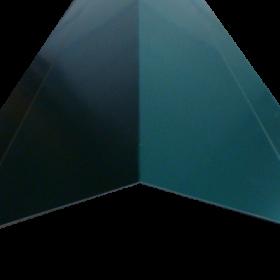 Caballete cumbrera de acero galvanizado color verde para techo en Monterrey